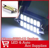 10 x Festoon CAN BUS 42mm C10W ERROR FREE 5630 12 LED Interior Lighting Bulbs Dome Map Reading Lamp