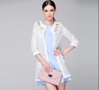 Autumn jacket on 2014 new Slim and long sections of small fragrant wild wind lady windbreaker NDC116 Y9W