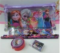 For Desney frozenB5 size girl pencil case set.pencile,eraser,case set.school supplies.cartoon kids bag.school supplies s