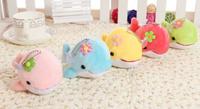 Kawaii Multi Colors Dolphin DOLL 13CM Keychain DOLL TOY ; Plush Stuffed TOY DOLL ; BAG Pendant TOY Wedding Bouquet TOY DOLL