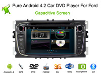 2 din Pure Android 4.2.2 CAR DVD For Ford, for Focus Mondeo s-max 2008-2011 with GPS Navigation+WIFI+Bluetooth