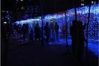 10m*3m 1000LEDs lights flashing lane LED String lamps curtain Fairy Christmas home garden festival lights 110v-220v EU UK US