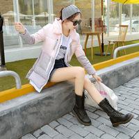 2014 new Woman's down coat Slim Down hooded coat Woman Winter jacket Warm Down jacket fashion long overcoat Duck Down 80%