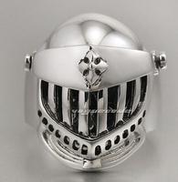 Rock gens alien skull ring Male, 925 silver