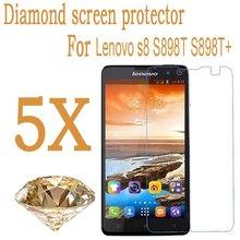 "New Arrival! High quality Diamond Protective Film Lenovo S8 S898t+ 5.3"" MTK6592 Octa Core Screen Protector Guard Cover Film"