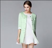 Autumn 2014 new windbreaker jacket Ladies European style women's long sleeve section NDC121 Y9W