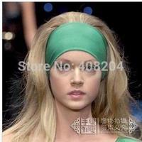 Minimum order of $6--sport headwear Yoga Headband extra Wide Headband Stretch Jersey cotton Workout HeadBand