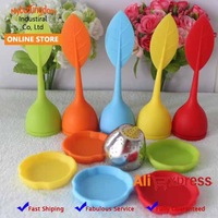 3pcs/lot Food-grade silicone leaf tea ball make tea bag filter creative 304 stainless steel insulation tea infuser
