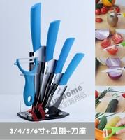 2014 Hot selling Ceramic knife 6pcs Gift Set 3 inch+4 inch+5 inch+6 inch+peeler +Knife holder Ceramic Knives Sets Kitchen Knife!