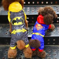 10pcs/lot  High Fashion brand superman batman Pet  Dog raincoat  Pet  DOG coat  clothes hoody jacket  S-XL