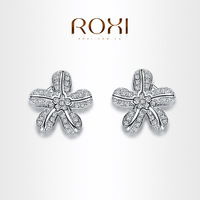 ROXI luxurious Earrings platinum plated with CZ diamonds,fashion Environmental Micro-Inserted Jewelry