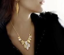 Leaves choker necklace for women/wedding dress cheap jewelry free shipping/colar/bijuteria/acessorios para mulher/perola/bijoux