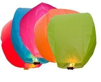 Wholesale Colorful Wedding Balloons Flying Paper Sky Lanterns Chinese Paper Wish Floating Lamps Lights Birthday Party Decoration