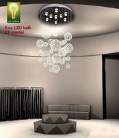 Chandelier Crystal K9 Free LED bulb Hi-Quality Balls Short Spiral Design Energy Save Living Room Antirust stainless steel Big