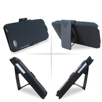 New Hybrid Wholesale Shell Holster Combo Case  For  Blackberry Z5 with Kick-Stand & Belt Clip Via Free DHL