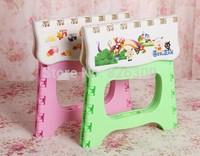 Free FedEx shipping 12pcs/lot Cheap and practical plastic folding stool + birds tool Color random folding chair