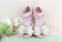 2014 girls high-heeled open toe sandals children shoes princess shoes