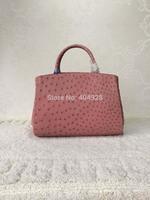 2014 ostrich  pink electric blue  purse original leather bag  new fashion  wholesale and retail brand  women design handbag