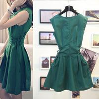 Free Shipping 2014 za*  Temperament Fashion sleeveless Dresses  shorts women Saias  American apparel Summer-Autumn