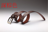 Free Shipping New product recommendation Men belt The crocodile leather belt Leather belt Pin buckle belts Personality wholesale