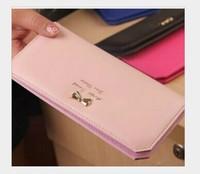 Hot Sale ! New 2014 Women's wallets long design change purse PU leather female coin purse Lady carteira feminina Free shipping