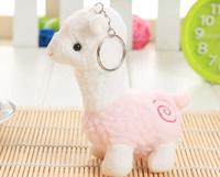 Super Kawaii Australia The Alpaca 12CM Keychain DOLL TOY ; Plush Stuffed TOY DOLL ; BAG Pendant TOY Wedding Bouquet TOY DOLL