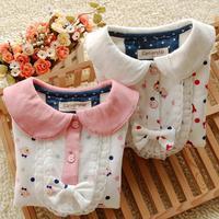 Autumn Children's clothing girls long-sleeved T-shirt, baby princess coat worsted cotton shirt