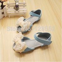 Children shoes 2014 summer child girls shoes bow girls princess sandals child sandals