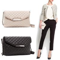 Free shipping 2014 new hot Quilted chain Shoulder bag plaid MANGO Messenger bag Handbag small cross body bag clutch