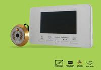 "4.3"" Digital Peephole Door Viewer  Eye Doorbell 160 degree Video Color IR Camera Security 3X Zoom Night Vison Multiple Languages"