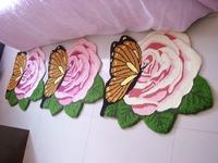 Free shipping hand hooked Beetle carpet mats slip-resistant carpet for living room rose 70*67cm