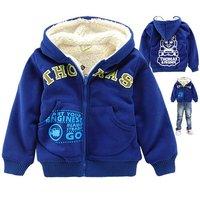 Winter Children Hoody Boy Warm Hoodies & Sweatshirts Kids Winter Jacket Thickening Sherpa Brand New Boys Coats Retail