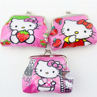 Children Hello kitty colors coin purses wallet Material PVC woman Coin Purses gift