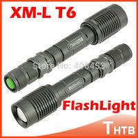 CREE XM-L T6 2000 Lumens Outdoor LED Lanterna Shocker Zoomable Tactical Flashlight Waterproof Torch light Camping Lamp Linternas