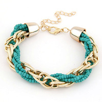 Fashion bohemia bracelet beads knitted bracelet fashion all-match accessories