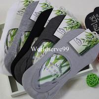 Men Short Socks Invisible Bamboo Fiber Liner Ankle Boat Sock Low Cut Cotton Socks Loafer