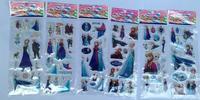 Wholesale - Free Shipping 200 Sheets Frozen Design Kids Cute PVC Puffy Stickers 3D Stickers Cartoon Craft Scrapbook Stickers 6 D