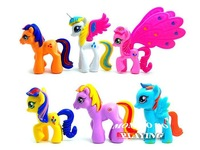 6 PCS 8~10CM Little Horse Loose Toys Very Cute Action Figures TA0049