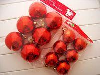 36pcs 8cm christmas ball plated Powder Colored Drawing Christmas Ball Decoration Hanging Ball Free Shipping
