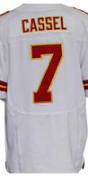 Cheap Free Shipping American Kansas City Football #7 Matt Cassel Jersey White, Red Stitched Logo Elite