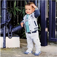 SH28 retail 2014 Newest Spring Three-Piece Kids Clothes Set Children Clothing Suit Baby Boys Clothes Suit 1pcs/lot Free Shipping
