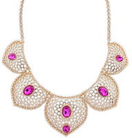 Europe and the United States Court elegance hollow Multi Leaf Necklace.