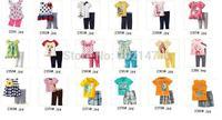Wholesael s- Children's Clothing  Short Sleeve t-shirt  long pants hot Boy's Pajamas Suits Girl's Sets  -ZQZ292C