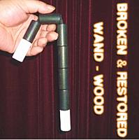 Broken and Restored Wand (Wood) - magic trick, 2014 new fire magic