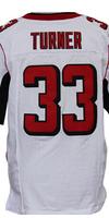 Cheap Free Shipping American Atlanta Football #33 Michael Turner Jersey White, Red Stitched Logo Elite