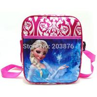 Frozen Princess 23CM Girls Messenger bag Cross body bag Zipper cartoon children shoulder bag
