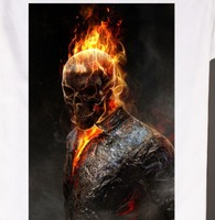Ghost Rider burning head comics t shirt