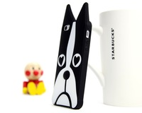 Free shipping 3D cute zebra and dog skin soft silicone phone case Cover For Apple iPhone 4 4S