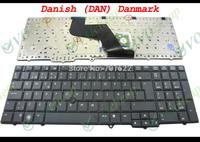 New Laptop keyboard for HP EliteBook 8540p 8540w with Point sticker black Danish Dan Version - 595790-081