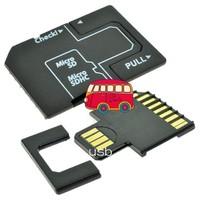FREE SHIPPING  500pcs/lot ,MicroSD/TF to SD USB Flash U Disk Adapter USB Card reader Adapter